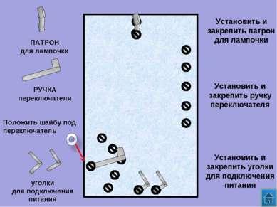 ПАТРОН для лампочки РУЧКА переключателя уголки для подключения питания Устано...