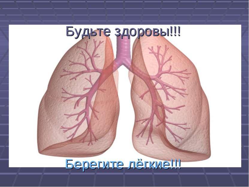 Будьте здоровы!!! Берегите лёгкие!!!