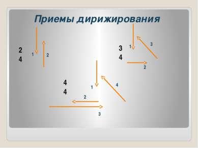 2 4 3 4 4 4 2 1 1 1 2 2 3 3 4 Приемы дирижирования