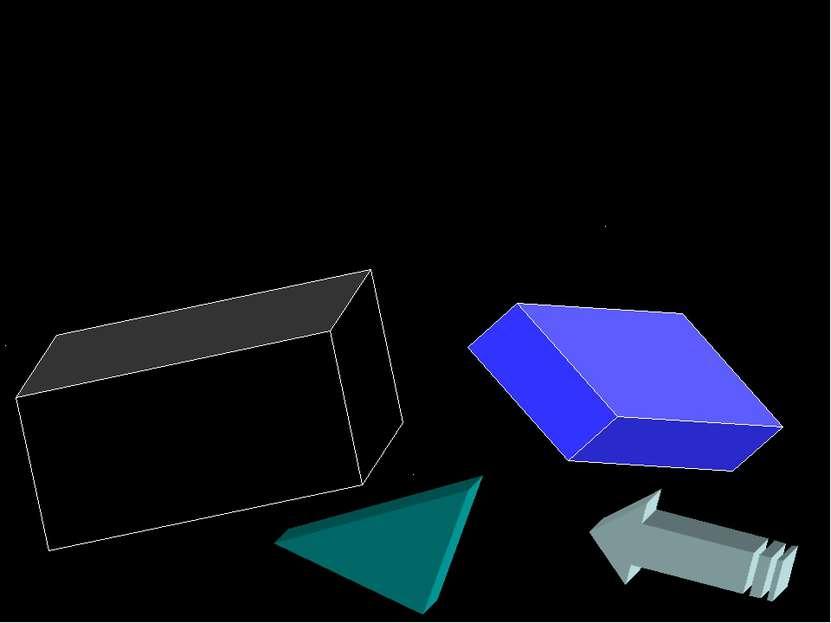 Остальные фигуры Можно построить из сочетаний точек, прямых и отрезков