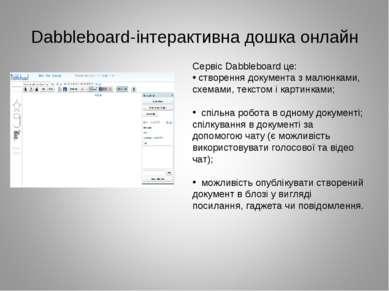 Dabbleboard-інтерактивна дошка онлайн Сервіс Dabbleboard це: створення докуме...