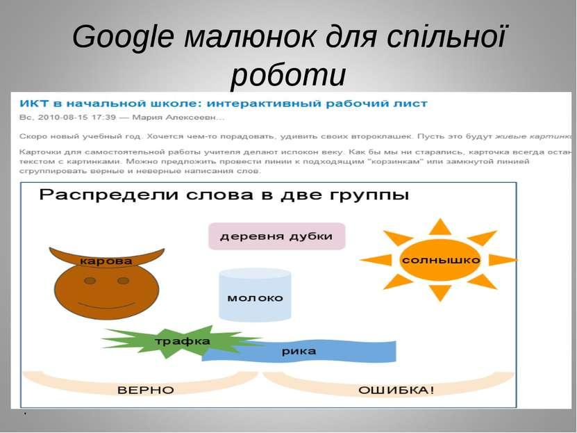 Google малюнок для спільної роботи .