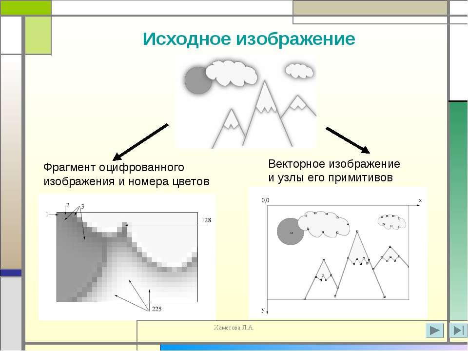 Фрагмент оцифрованного изображения и номера цветов Векторное изображение и уз...