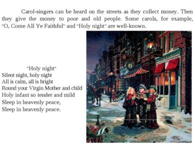"""Holy night"" Silent night, holy night All is calm, all is bright Round your V..."