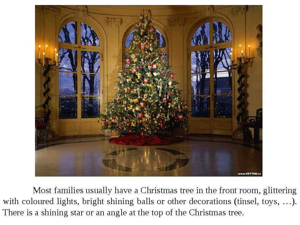 Most families usually have a Christmas tree in the front room, glittering wit...
