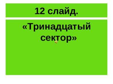 12 слайд. «Тринадцатый сектор»