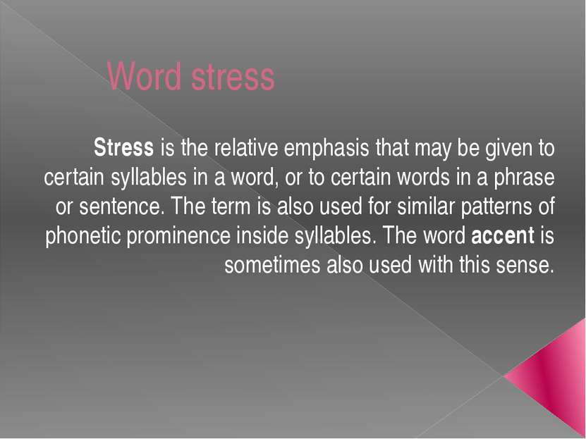Esl Word Stress Game