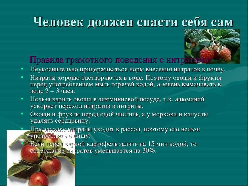 5 в растениях нитраты распределены неравномерно