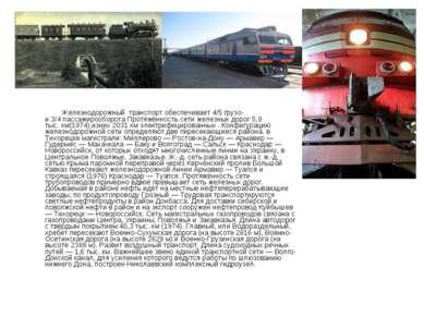 Железнодорожный транспорт обеспечивает4/5грузо- и3/4пассажирооборота Прот...