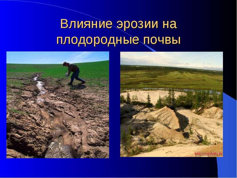 Влияние эрозии на плодородные почвы