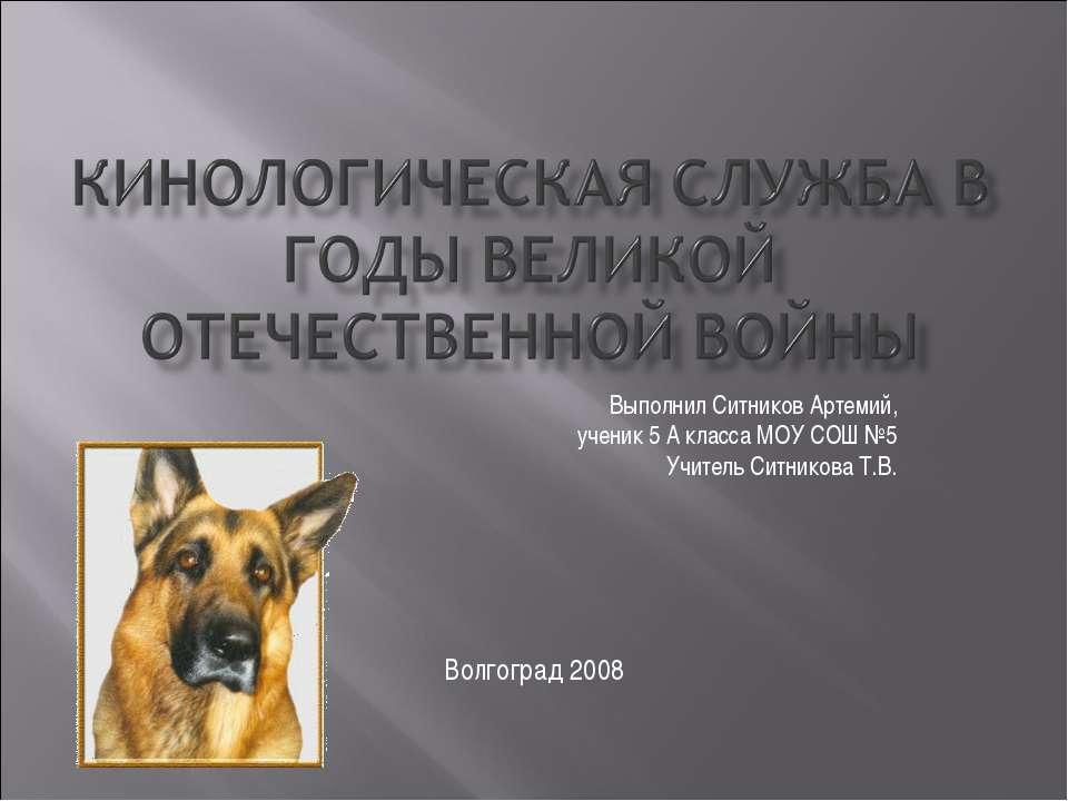 Выполнил Ситников Артемий, ученик 5 А класса МОУ СОШ №5 Учитель Ситникова Т.В...