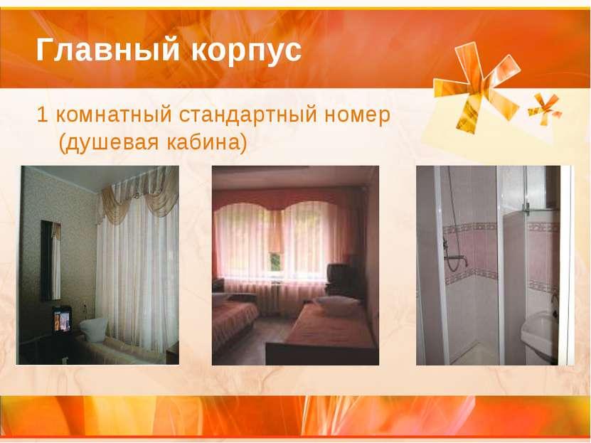 Главный корпус 1 комнатный стандартный номер (душевая кабина)