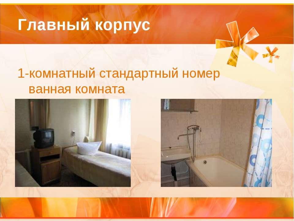 Главный корпус 1-комнатный стандартный номер ванная комната
