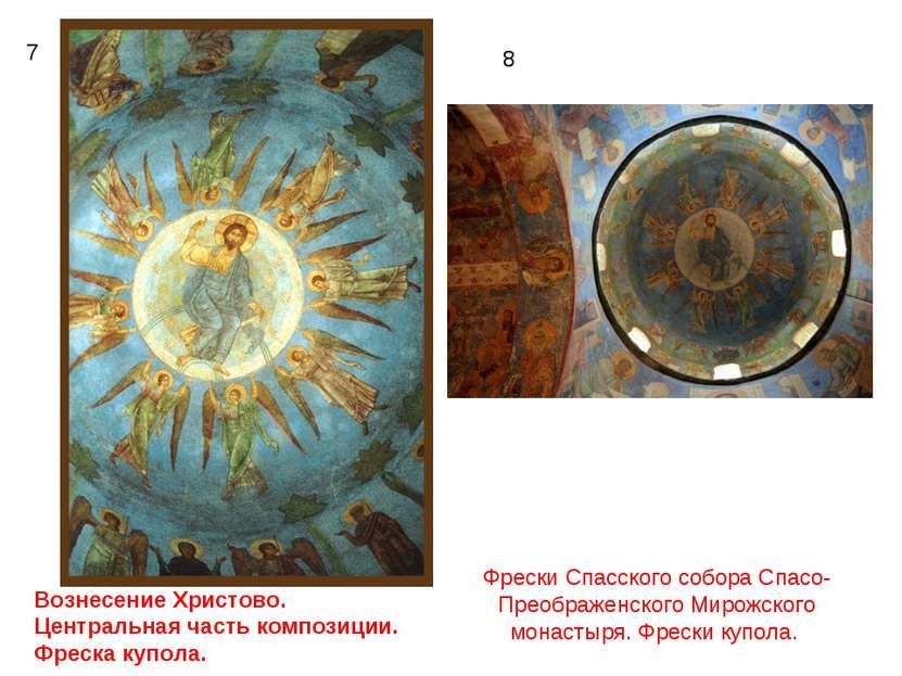 7 8 Вознесение Христово. Центральная часть композиции. Фреска купола. Фрески ...