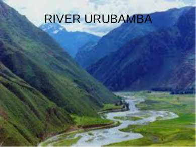 RIVER URUBAMBA