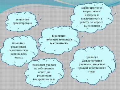 Проектно-исследовательская деятельность личностно ориентирована характеризует...