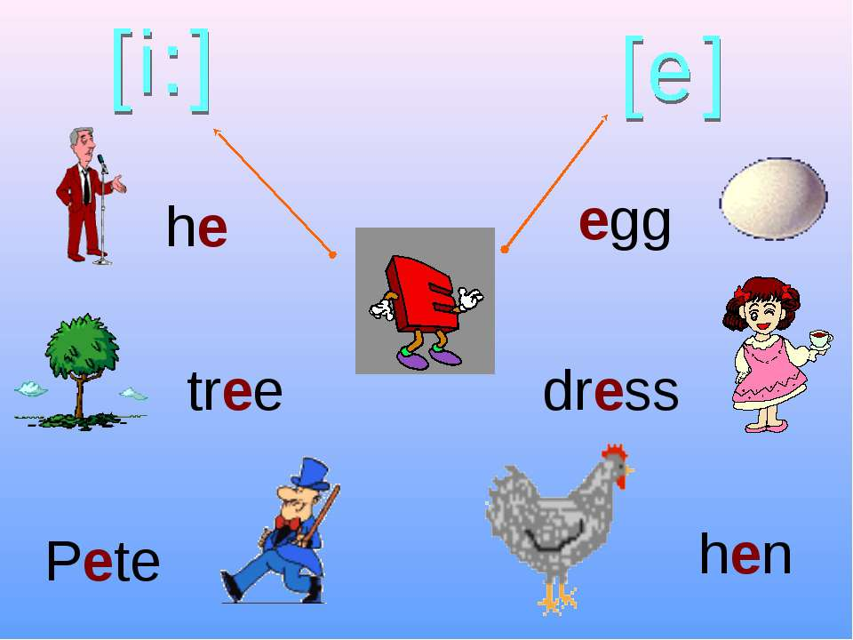he tree Pete hen dress egg