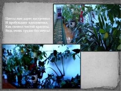 Цветы нам дарят настроенье И пробуждают вдохновенье, Как символ чистой красот...
