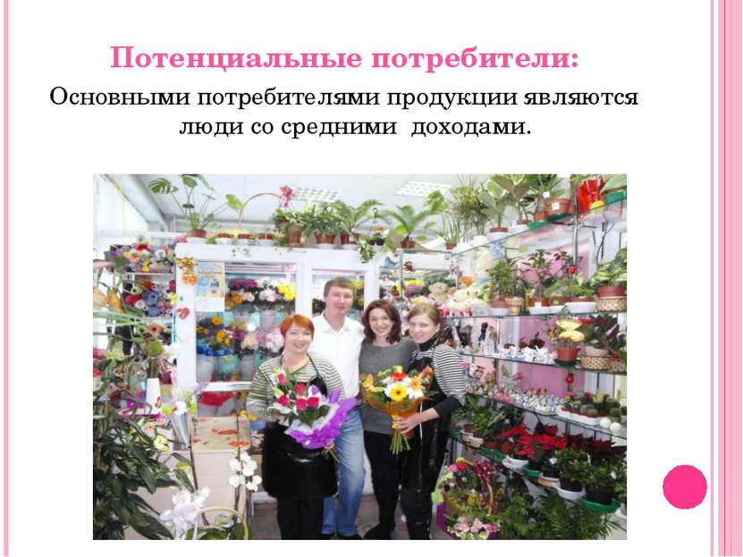 Потенциальные потребители: Основными потребителями продукции являются люди со...