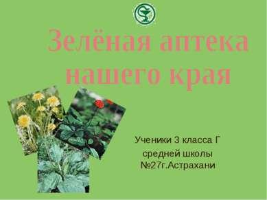 Ученики 3 класса Г средней школы №27г.Астрахани