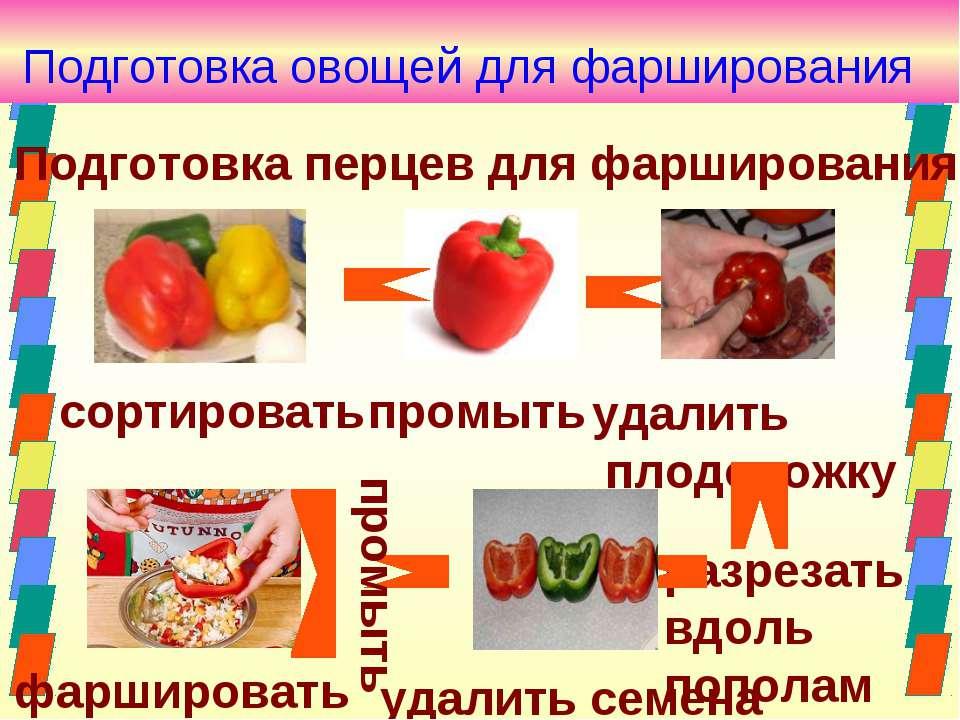 Подготовка перцев для фарширования