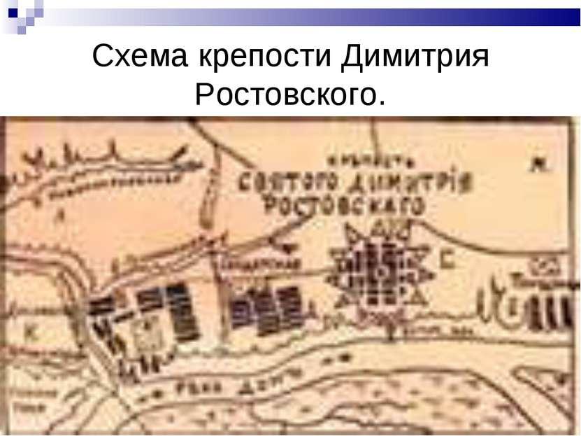 Схема крепости Димитрия Ростовского.