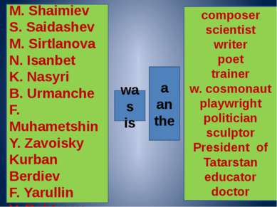 a an the composer scientist writer poet trainer w. cosmonaut playwright polit...