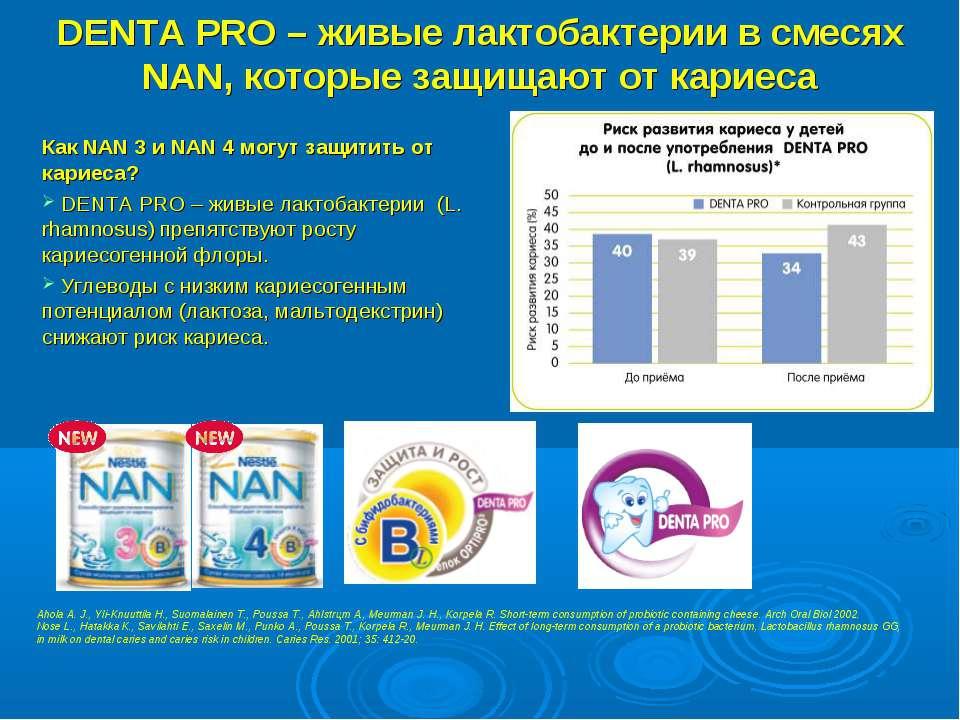 DENTA PRO – живые лактобактерии в смесях NAN, которые защищают от кариеса Как...