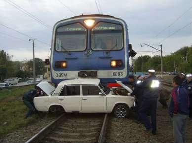 Несмотря на закрытый шлагбаум, железнодорожный переезд переехал гражданин Н. ...