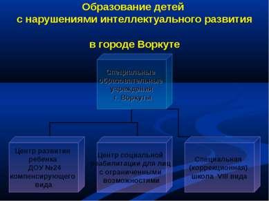 Образование детей с нарушениями интеллектуального развития в городе Воркуте