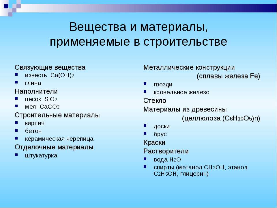 Вещества и материалы, применяемые в строительстве Металлические конструкции (...