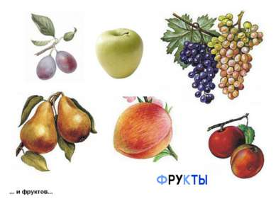 ... и фруктов... ФРУКТЫ