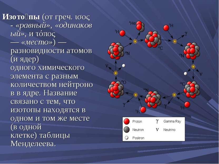 Изото пы(отгреч.ισος-«равный»,«одинаковый», и τόπος —«место») — разнов...