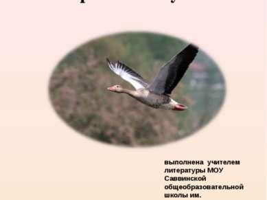 Презентация рассказа Виктора Петровича Астафьева «Пролетный гусь» выполнена у...