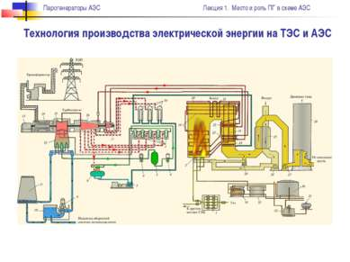 Технология производства электрической энергии на ТЭС и АЭС Парогенераторы АЭС...