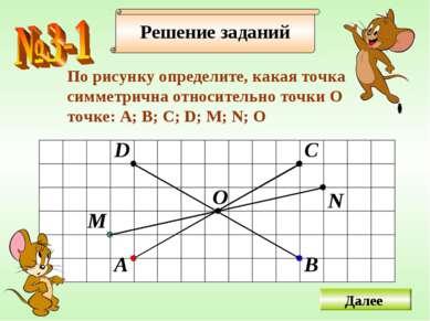 Решение заданий По рисунку определите, какая точка cимметрична относительно т...