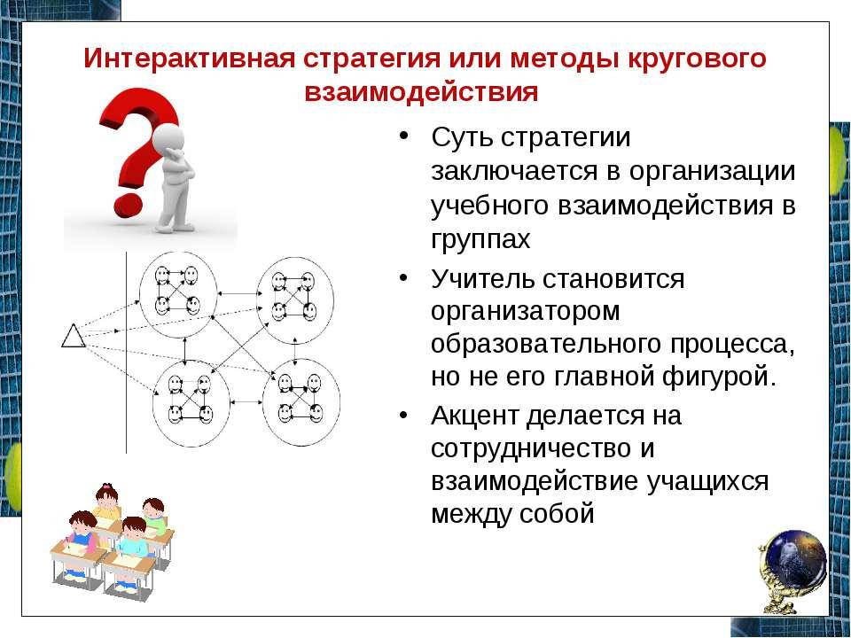 Интерактивная стратегия или методы кругового взаимодействия Суть стратегии за...