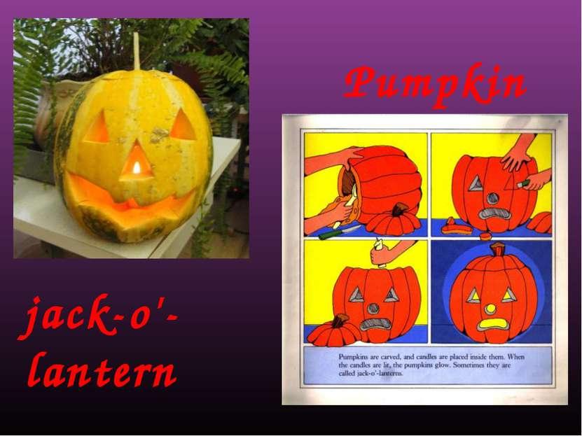 Pumpkin jack-o'-lantern