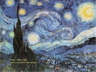 Starry, Starry night paint your palette blue and grey