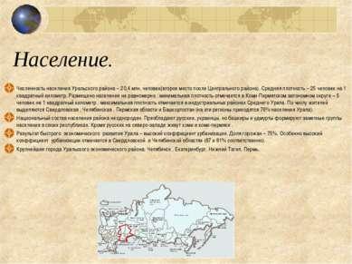Население. Численность населения Уральского района – 20,4 млн. человек(второе...