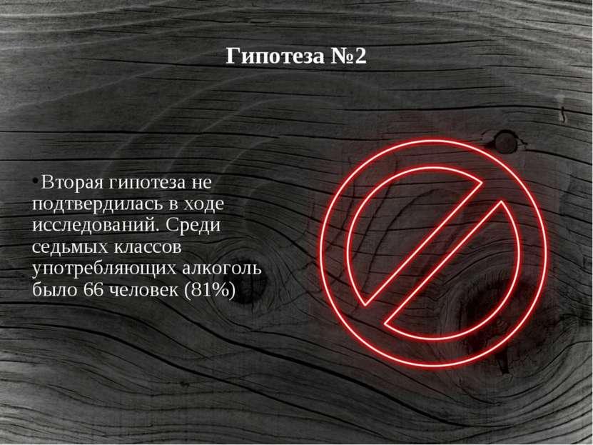Гипотеза №2 Вторая гипотеза не подтвердилась в ходе исследований. Среди седьм...