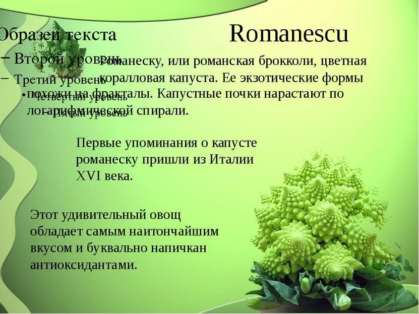 Romanescu Романеску, или романская брокколи, цветная коралловая капуста. Ее э...