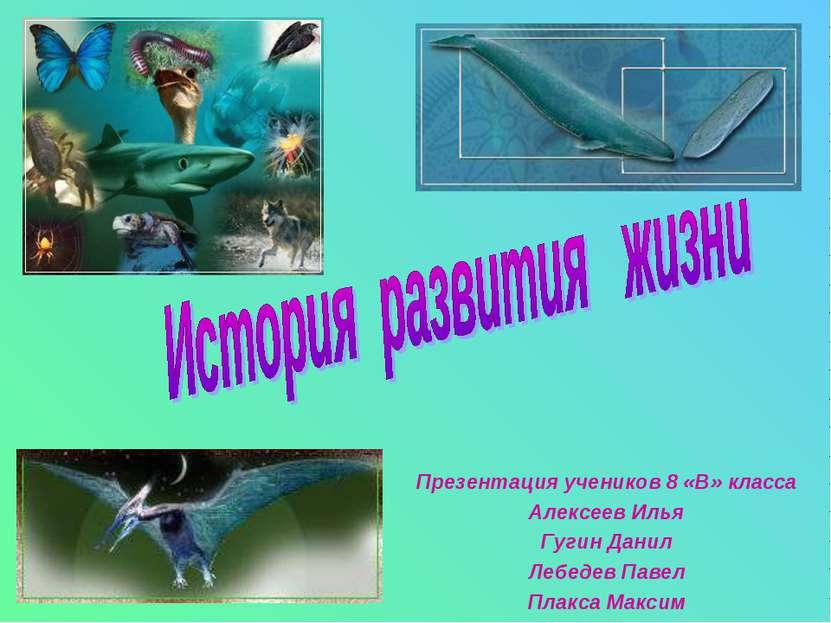 Презентация учеников 8 «В» класса Алексеев Илья Гугин Данил Лебедев Павел Пла...