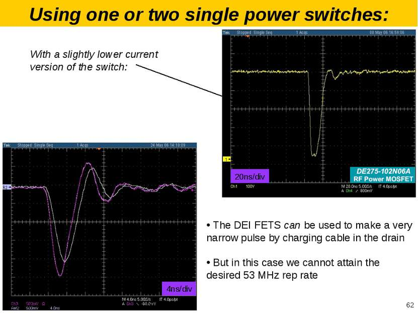 Using one or two single power switches: The DEI FETS can be used to make a ve...