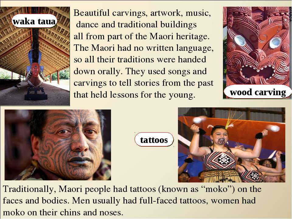 waka taua wood carving tattoos Beautiful carvings, artwork, music, dance and ...