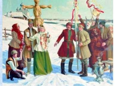 И, конечно же, праздник не обходился без чучела Масленицы. Издревле чучело Ма...