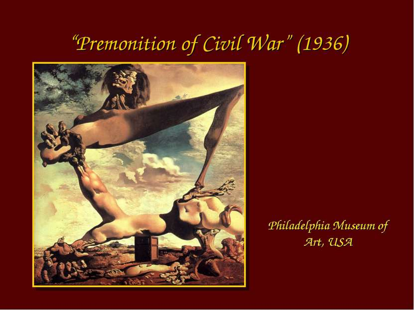 """Premonition of Civil War"" (1936) Philadelphia Museum of Art, USA"
