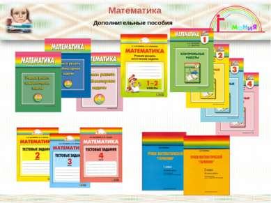 Математика Дополнительные пособия