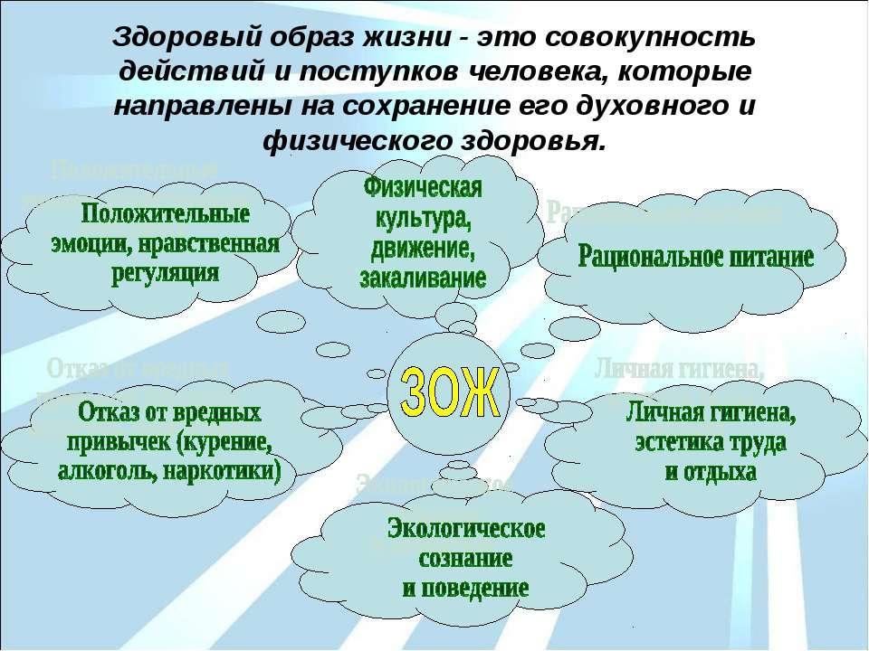Здоровый образ жизни - это совокупность действий и поступков человека, которы...