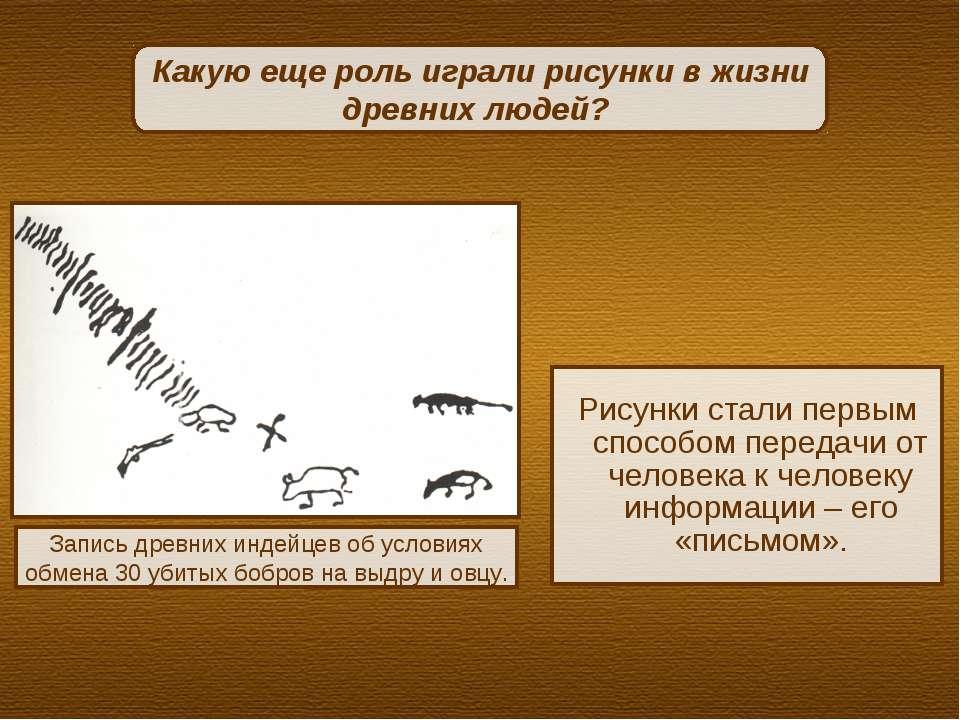 Рисунки стали первым способом передачи от человека к человеку информации – ег...